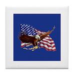 American Patriotism Tile Coaster