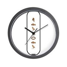 "Eduardo in Hieroglyphics ""Col Wall Clock"