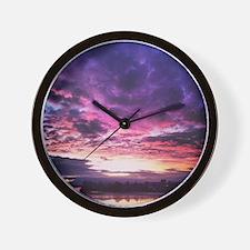 Beautiful New Zealand – Sunset Colours Wall Clock