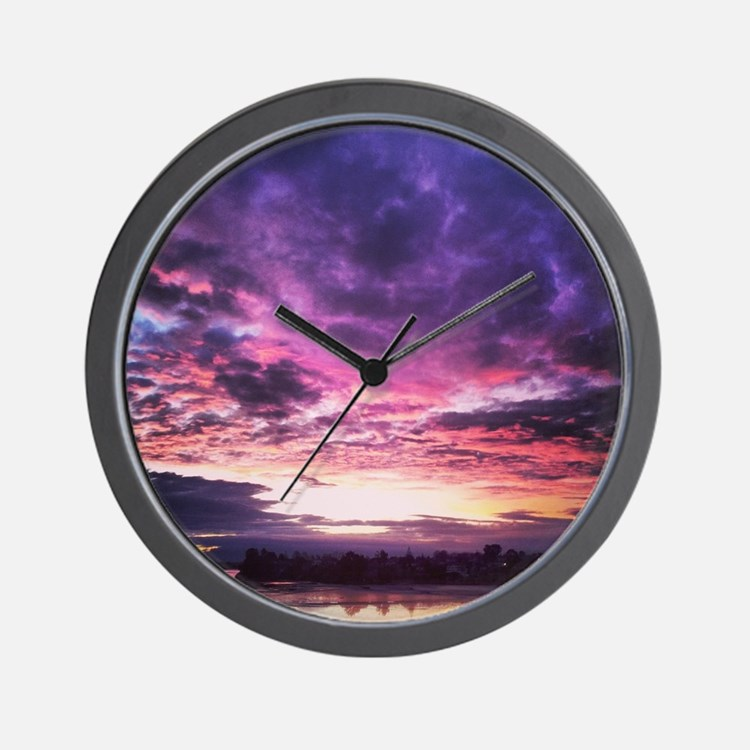 Beautiful New Zealand – Sunset Colours Wall Clock