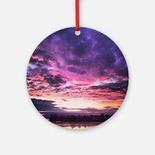 Beautiful New Zealand – Sunset Colo Round Ornament