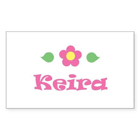 "Pink Daisy - ""Keira"" Rectangle Sticker"