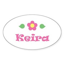 """Pink Daisy - """"Keira"""" Oval Decal"""