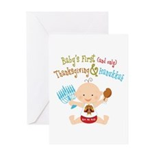 1st Thanksgiving Hanukkah Greeting Card
