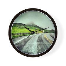 Beautiful New Zealand – Misty Road Trip Wall Clock