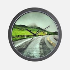 Beautiful New Zealand – Misty Road Trip Wall Clock