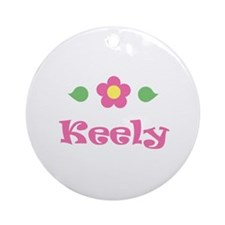 """Pink Daisy - """"Keely"""" Ornament (Round)"""