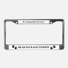Pet Advocates PACKAGE INSERT License Plate Frame