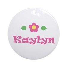 "Pink Daisy - ""Kaylyn"" Ornament (Round)"