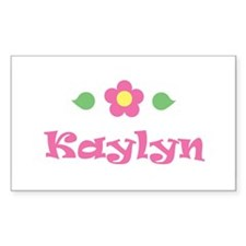 "Pink Daisy - ""Kaylyn"" Rectangle Decal"