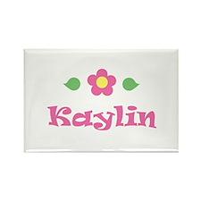 "Pink Daisy - ""Kaylin"" Rectangle Magnet"
