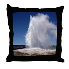 Yellowstone Natl Park - Old Faithful Throw Pillow