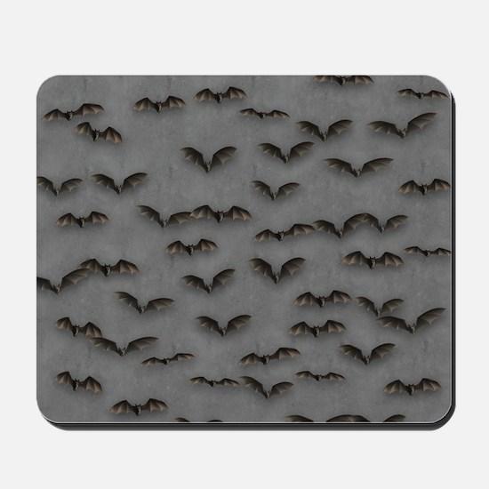 Bats On Gray Mousepad