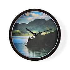 Beautiful New Zealand – Beach and Mount Wall Clock