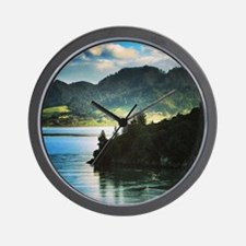 Beautiful New Zealand – Beach and Mount Wall Clock
