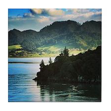 Beautiful New Zealand – Beach and Mou Tile Coaster