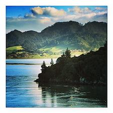 "Beautiful New Zealand –  Square Car Magnet 3"" x 3"""