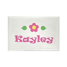 "Pink Daisy - ""Kayley"" Rectangle Magnet"