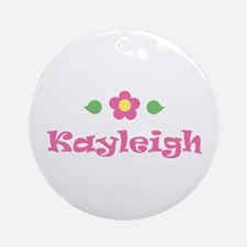 """Pink Daisy - """"Kayleigh"""" Ornament (Round)"""