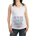 Future Lawyer Inside Maternity Tank Top
