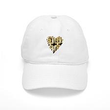 Gold Chain and Gem Heart Baseball Baseball Cap