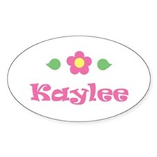 """Pink Daisy - """"Kaylee"""" Oval Decal"""