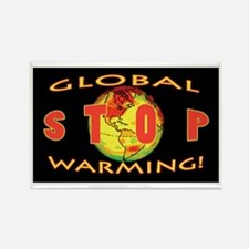 Stop Global Warming Rectangle Magnet