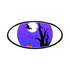 Halloween Witch Jack-o-Lantern Pumpkins Patches
