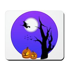 Halloween Witch Jack-o-Lantern Pumpkins Mousepad