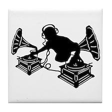 Gramophone Music - DJ & Retro Vinyl H Tile Coaster