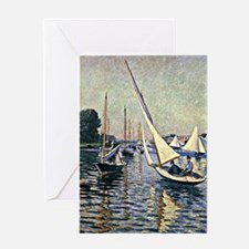 Caillebotte - Regatta at Argenteuil Greeting Card