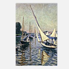 Caillebotte - Regatta at  Postcards (Package of 8)