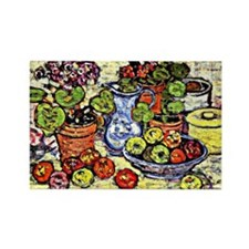 Prendergast - Cinerarias and Frui Rectangle Magnet