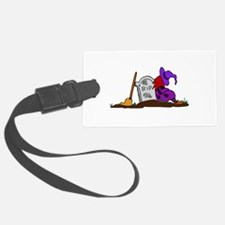 Halloween Witch and Tombstone Luggage Tag
