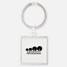 Afro Afrolution Square Keychain