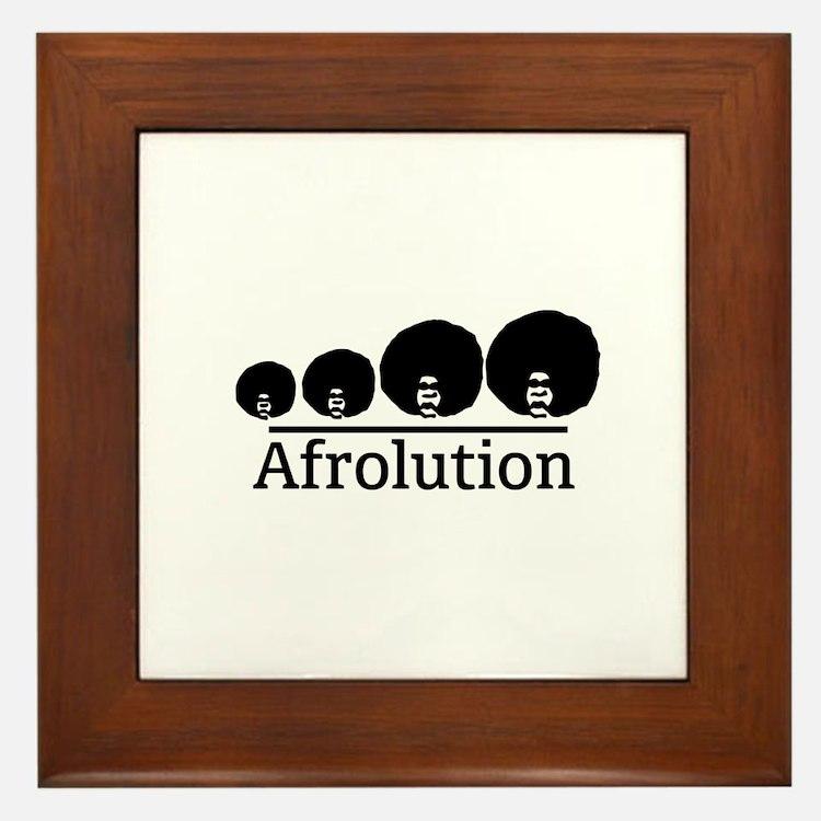 Afro Afrolution Framed Tile