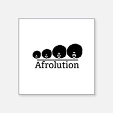 """Afro Afrolution Square Sticker 3"""" x 3"""""""