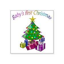 Babys first Christmas Sticker