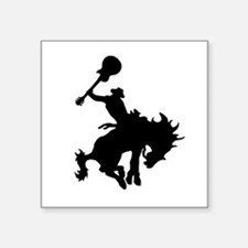 "Guitar Hero rodeo cowboy on Square Sticker 3"" x 3"""