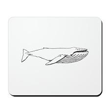 Humpback Whale (illustration) Mousepad