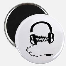 Headphones Audio Wave Motif: Reggae Magnet