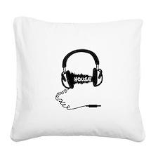 Headphones Headphones Audio W Square Canvas Pillow