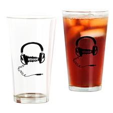 Headphones Headphones Audio Wave Mo Drinking Glass