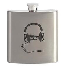 Headphones Headphones Audio Wave Motif: Hous Flask