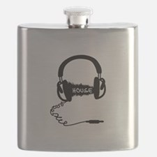 Headphones Headphones Audio Wave Motif: Hous Flask