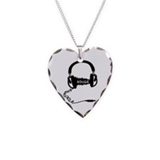 Headphones Headphones Audio W Necklace Heart Charm