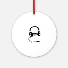 Headphones Headphones Audio Wave Mo Round Ornament