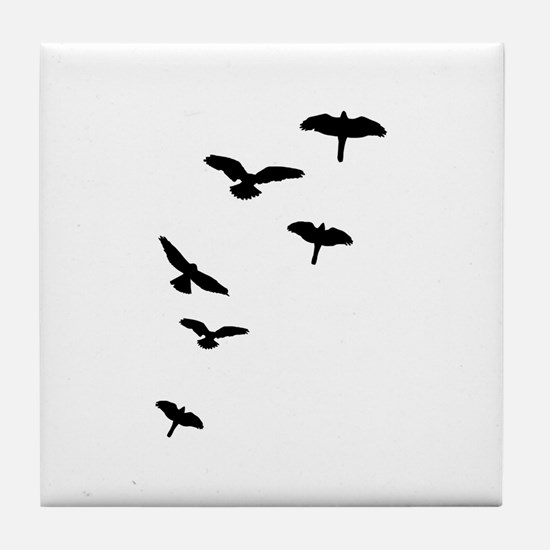 Flying Birds, the free-flying birds Tile Coaster