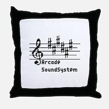 Arcade sound system clef note Lienen  Throw Pillow