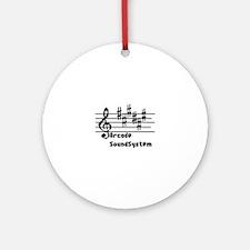 Arcade sound system clef note Liene Round Ornament